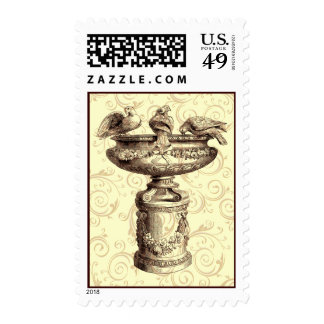 Vintage Birdbath Stamps