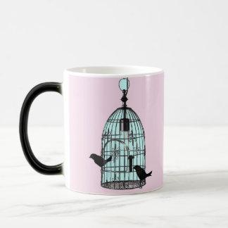 Vintage birdcage mug with monogram