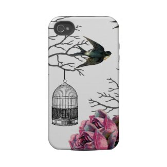Vintage Birdcage Roses Swallow Case