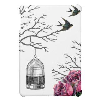 Vintage Birdcage Roses Swallow iPad Mini Case