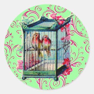 Vintage Birdcage Stickers