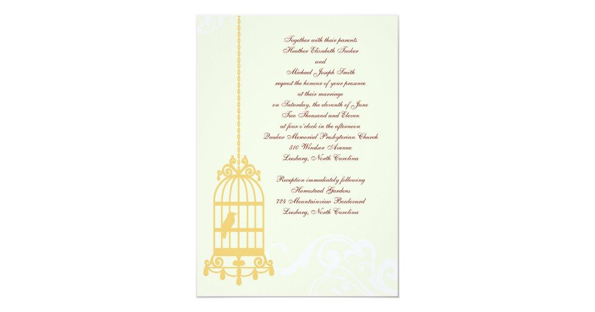 Wedding Invitations Birdcage: Vintage Birdcage Wedding Invitations