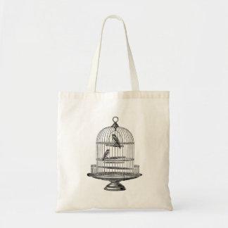 Vintage Birdcage with Birds...tote bag
