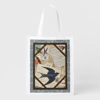 Vintage Birder's Journal, Barn Swallow,grocery bag