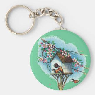 Vintage Birdhouse Key Chain