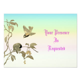 Vintage Birds and Branch Card