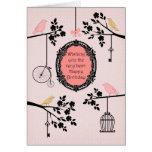 Vintage Birds and Branches Note Card