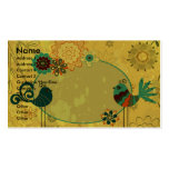 vintage birds and floral design Double-Sided standard business cards (Pack of 100)