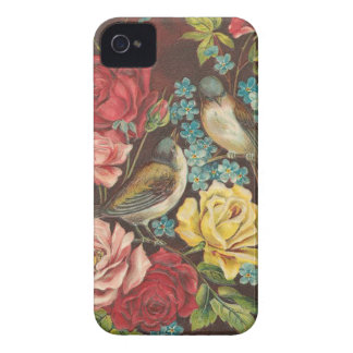 Vintage Birds and Flowers iPhone 4 Case-Mate Case