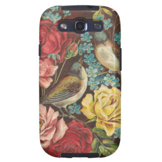 Vintage Birds and Roses Samsung Galaxy SIII Covers