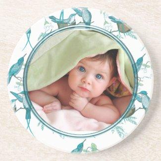 Vintage Birds Baby Photo Coasters coaster