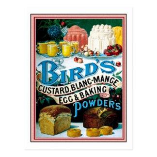 Vintage Birds Custard, Blanc-Mange Egg & Baking Po Postcard