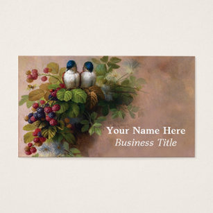 Fine art business cards templates zazzle vintage birds fine art painting business cards reheart Gallery