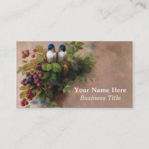 Fine art business cards zazzle vintage birds fine art painting business cards colourmoves