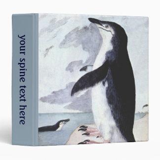 Vintage Birds from Antarctica, Chinstrap Penguin Binder