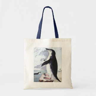 Vintage Birds from Antarctica, Chinstrap Penguin Tote Bag