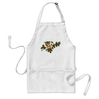 Vintage Birds in Holly Aprons