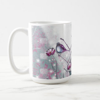 Vintage Birds in the Sun Coffee Mugs