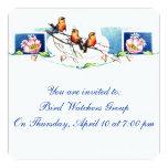 Vintage Birds 5.25x5.25 Square Paper Invitation Card