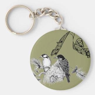 Vintage Birds Keychain
