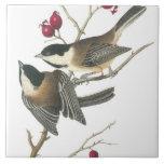 Vintage Birds Large Square Tile