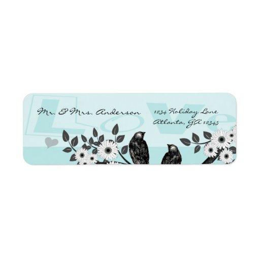 Vintage Birds Musical Chickadee Address Label