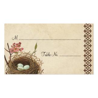 Vintage Bird's Nest Table Place Card