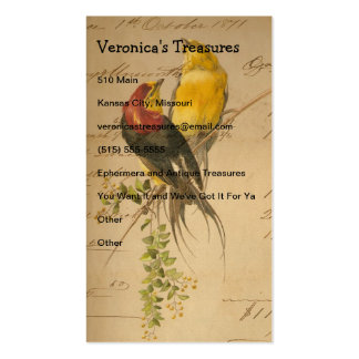 Vintage Birds of Paradise Business Card