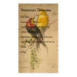 Vintage Birds of Paradise Business Card Templates