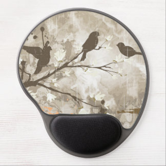 Vintage Birds on a Branch Gel Mouse Pad