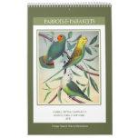 Vintage Birds - Parrots and Parakeets 2019 Calendar