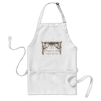 Vintage Birds Peaocks Happily Ever After Adult Apron