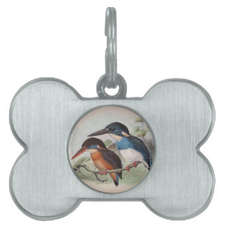 Vintage Birds Pet Tags