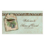 Vintage Birds, Robin's Egg Escort Table Seating Business Card Templates