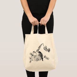 Vintage Birds Tote Bag