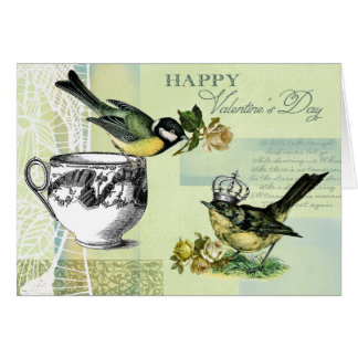 Vintage Birds Valentine's Day Greeting Cards