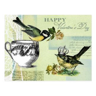 Vintage Birds Valentine's Day Postcards