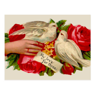 Vintage Birds Victorian Love Doves Postcards