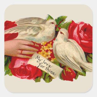Vintage Birds Victorian Love Doves Stickers