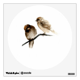 Vintage sparrows wall decals wall stickers zazzle vintage birds wall decal with grey birdies thecheapjerseys Gallery