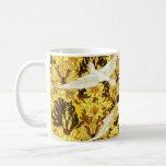 Vintage Birds Yellow Flowers Design Art Nouveau Classic White Coffee Mug
