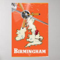 Vintage Birmingham Travel Poster