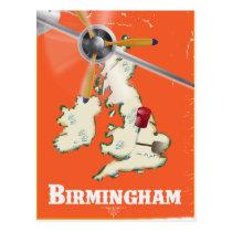 Vintage Birmingham Travel Poster Postcard