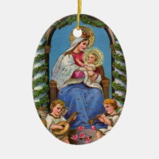 Vintage Birth of Christ Ornament