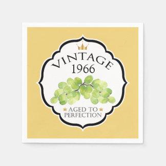 Vintage Birth Year Birthday Wine Label Napkin