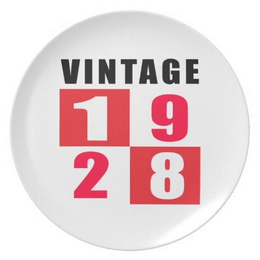 Vintage Birthday 1928 Party Plate