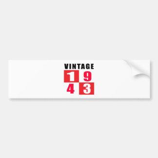 Vintage Birthday 1943 Car Bumper Sticker