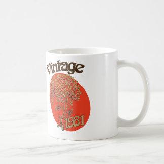 Vintage birthday 1981 coffee mug