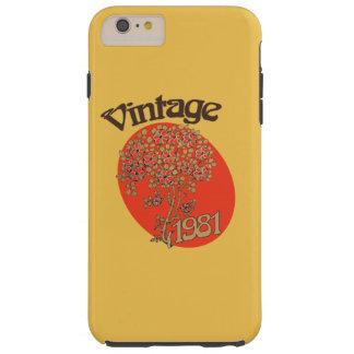 Vintage birthday 1981 tough iPhone 6 plus case
