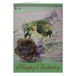 Vintage Birthday-1 feliz Felicitación